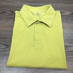 Patagonia Yellow-Green Polo Shirt L